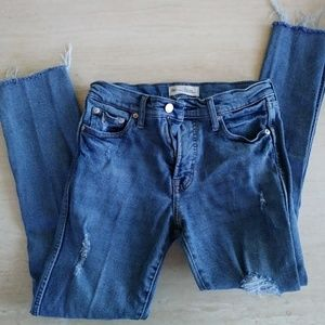 GAP High Rise Slim Straight thick jeans 27